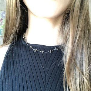 mid-century sterling silver necklace